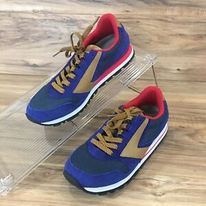 f4d7876e4cd BROOKS Men s Chariot Heritage Blue Red Gold Running Shoes Size 8 New ...