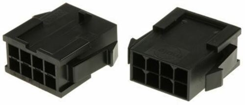 2 x MOLEX Micro-Fit 3.0 43020 3mm Pitch 2 RIGA Alloggiamento Connettore Maschio 8 VIE