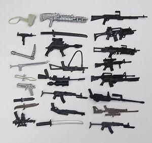 random-lot-35-GI-Joe-Cobra-3-75-034-figure-039-s-Accessories-Guns-sword-Weapons-K8