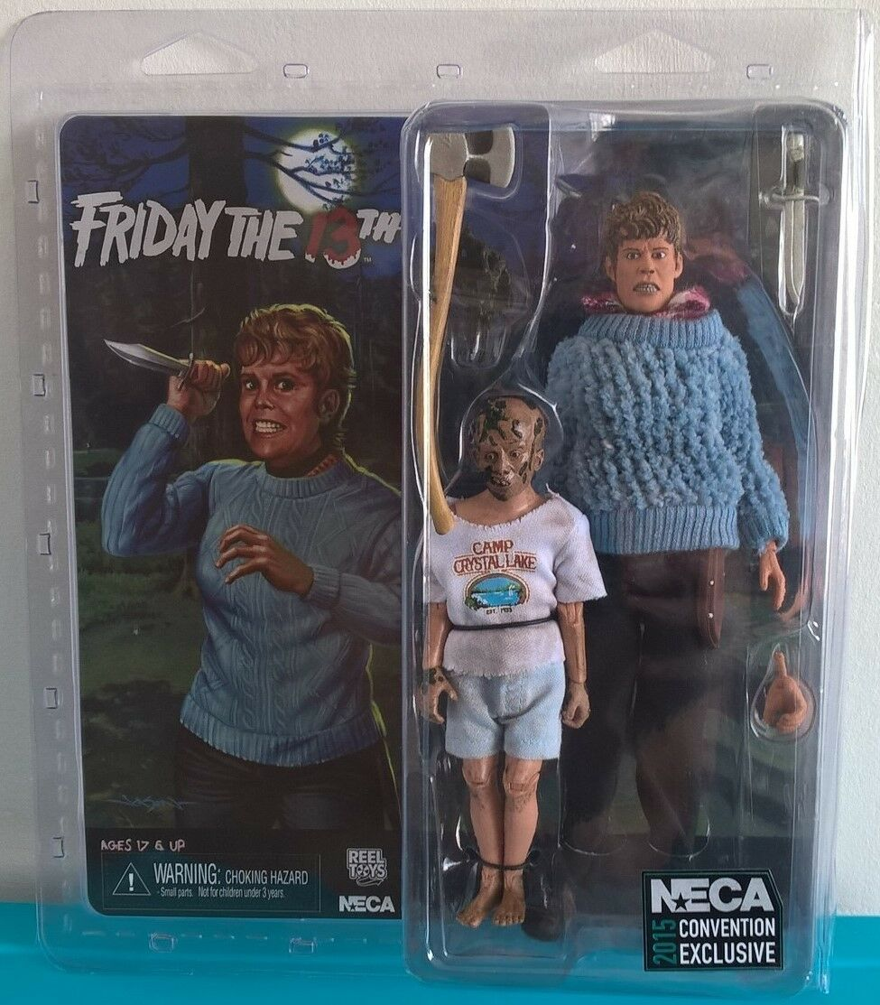 NECA Friday the 13th Mrs Voorhees & Jason 2015 Convention Exclusive SDCC RARE