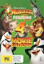Madagascar (1 - 3) / Penguins of Madagascar (4 Movie Collection) NEW R4 DVD