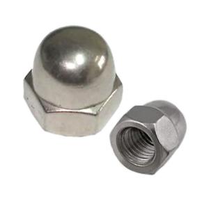 M4 4MM HEX DOME HEAD CAP NUTS DIN 1587 ACCIAIO INOX A2-confezioni vari formati