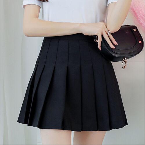 Women Girls Skirt School Dress High Waist Skirt Short A Line Skirts Fashion