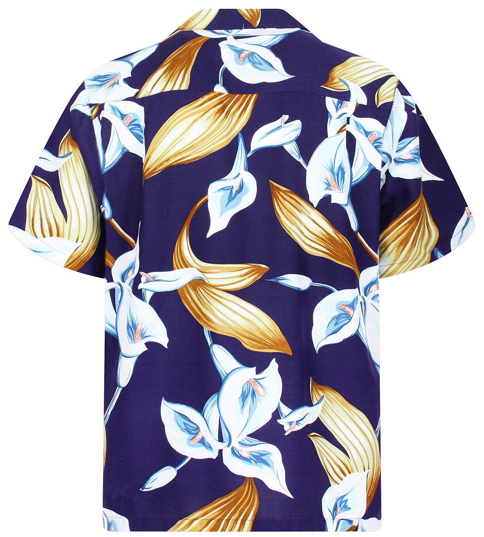 Camicia Selleck Tom Nero Original Magnum Hawaiana SMqzGLjUVp