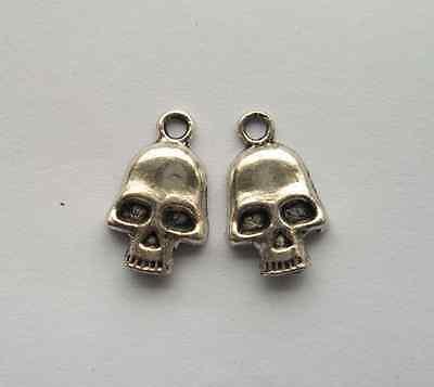 20pcs Tibetan silver alloy skeleton charms pendant 11.5x18mm