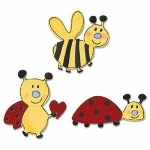 Sizzix Sizzlits Dies /'Love Bugs/' *3 Dies* 655426