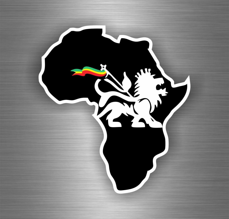 Sticker car decal rasta reggae jah africa lion of judah one love rastafarai r1