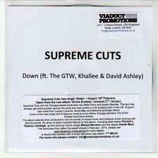 (EQ239) Supreme Cuts, Down (Ft The GTW, Khallee & David Ashley) - 2014 DJ CD