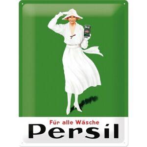 Blechschild-Persil-Weisse-Dame-Nostalgie-Schild-40-cm-NEU-Metal-shield