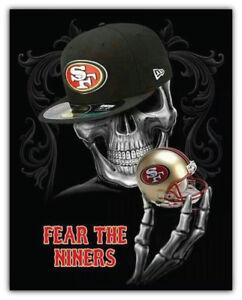 San Francisco 49ers NFL Skull Car Bumper Sticker Decal - 3'' or 5''