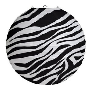Image Is Loading Zebra Stripes Animal Print Paper Lantern Birthday Party