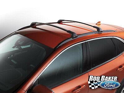 Ford Escape Roof Rack >> Genuine 2020 Ford Escape OEM Black Cross Bar Roof Rack Pair - 2-Piece Kit | eBay