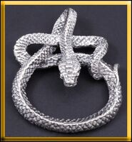 23G HUGE HEAVY SNAKE SERPENT BOA 925 STERLING SOLID SILVER MENS PENDANT CHARM