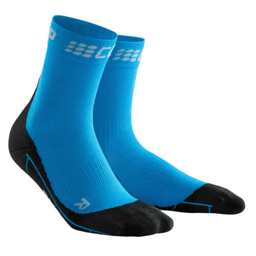 CEP Running MERINO SHORT SOCKS Men electric blue//blackWP5BNUMerino Wolle