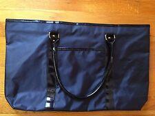 NIP Mary Kay Large Black Nylon Tote Bag W/black Lining Leather Handles