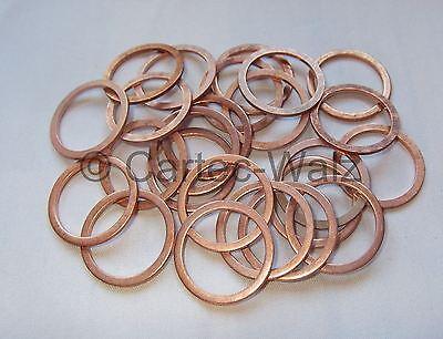 5 Stück Kupferdichtring  Dichtung Kupfer 22x27x1,5 mm DIN 7603  Form A
