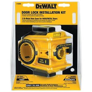Dewalt Door Lock Installation Kit Bi Metal Hole Saw Drill