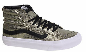 Vans Off The Wall SK8-Hi Slim Lace Up Unisex Metallic Trainers XH7G7C Vans B