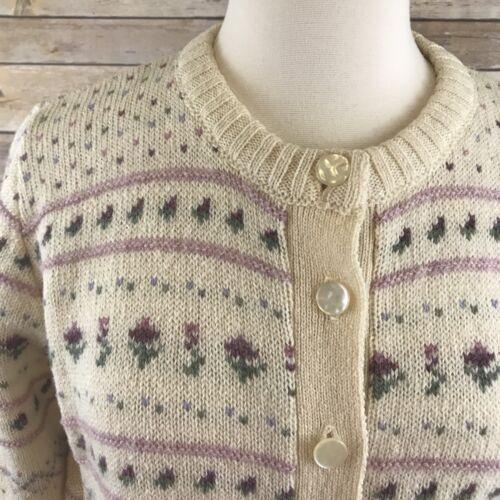 Scotland Of Vintage Maglione Maban taglia unica lana in avorio qHt7vnw7f