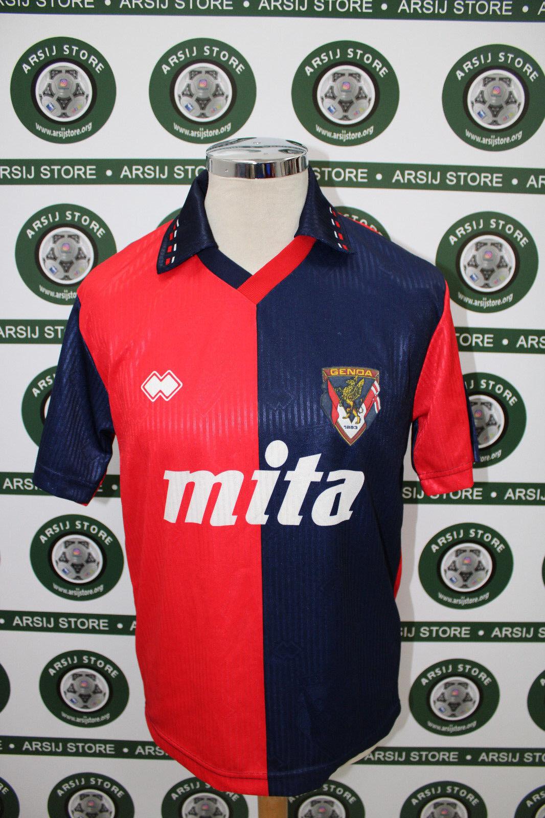 Maglia calcio shirt maillot trikot camiseta GENOA SKUHRAVY TG M 91 92 NO RIPRO