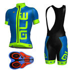 D050 2017 Men's cycling team sports Clothing MTB bike jersey 9D bib shorts Set