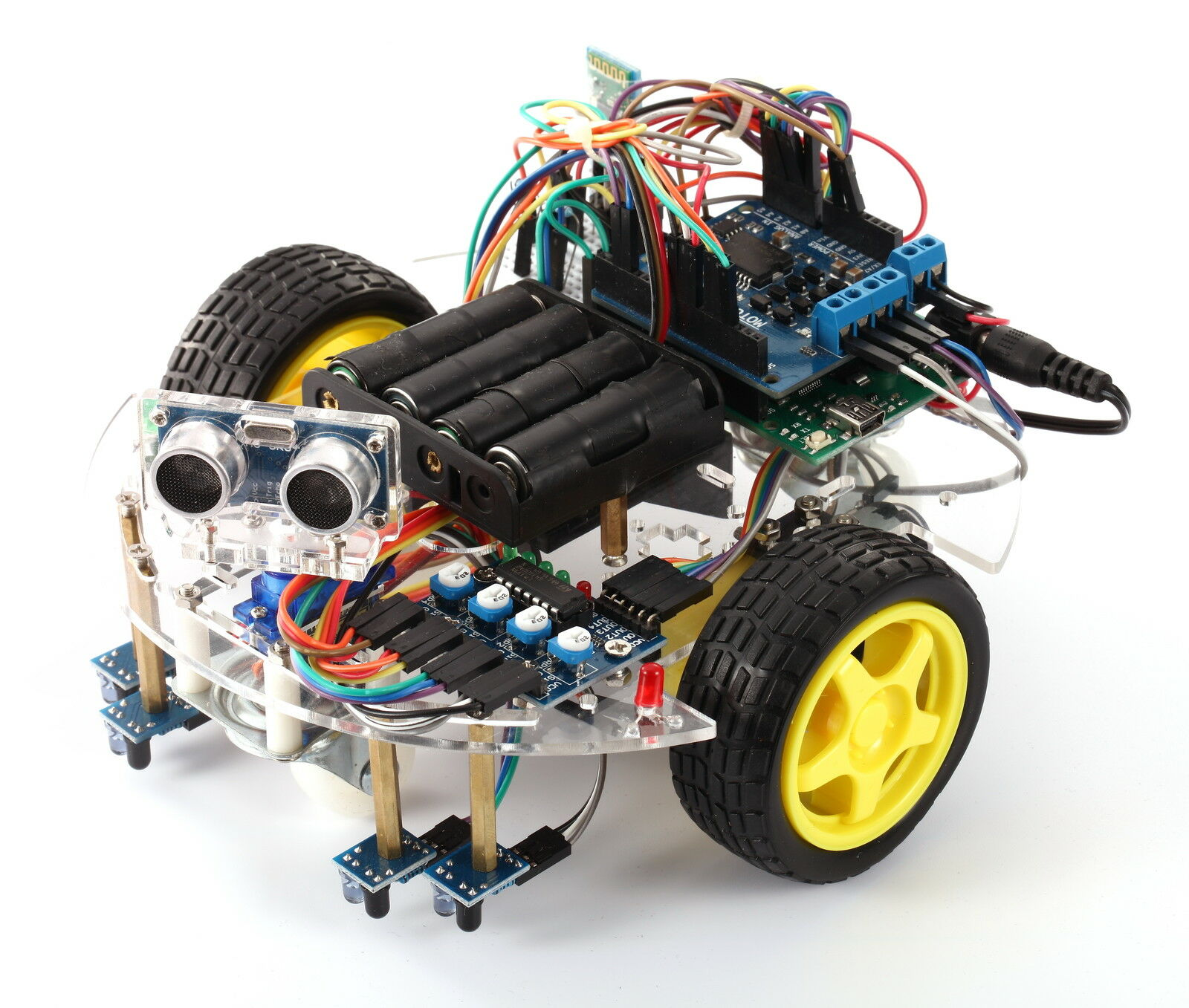 Arduino Robot eBOT Z Smart Car Robot Chassis Bundle DIY Everything Inc.(New USA)