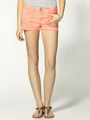 J BRAND Womens Ogy 1046O250 Shorts Skinny Tigers Eye orange Size 25