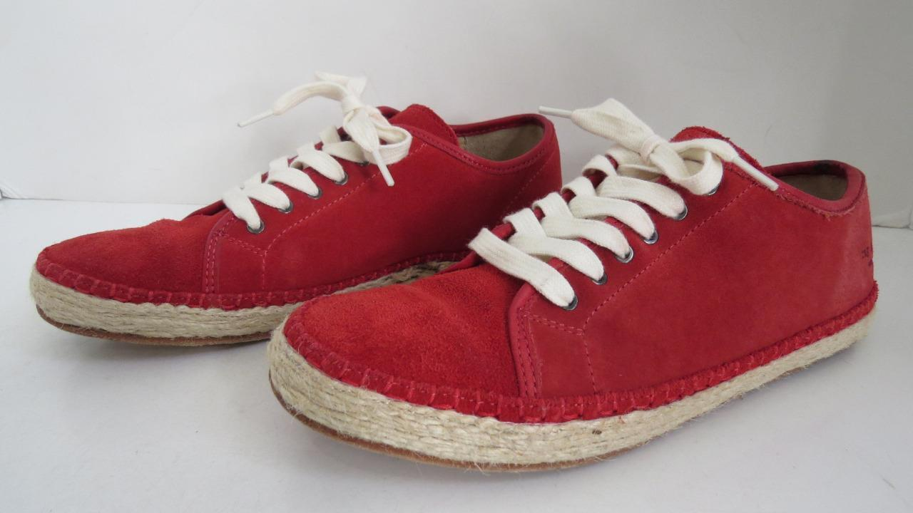 Rag & Bone Red Suede 'Baylor' Espadrille Sneakers shoes Sz. 37.5