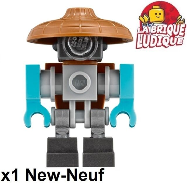 Lego - Figurine Minifig Ninjago robot droid chapeau Sweep njo330 70620 NEUF