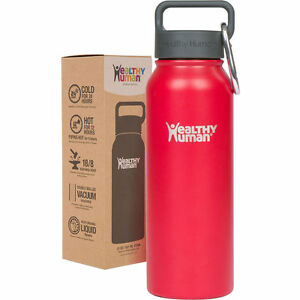 67c9da251 Healthy Human 21 oz Red Hot Insulated Stainless Steel Water Bottle ...