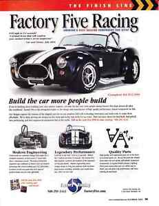 Details about FORD SHELBY COBRA 427 ~ NICE FACTORY FIVE RACING AD