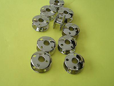 10 SINGER SEWING MACHINE METAL BOBBINS 201K//99K//66K//185K//401//411G//300//400//SERIES
