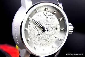 098955bec41 Men Invicta S1 Dragon Yakuza Silver Tone Black Automatic NH35A Watch ...