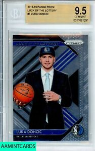 2018-19 PANINI PRIZM Luka Doncic #3 LUCK OF THE LOTTERY ROOKIE RC BGS 9.5