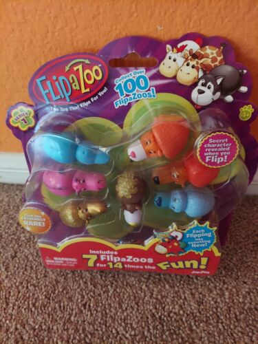 Details about  /FlipaZoo 7 Pack Series 1 Mini Figures as shown Collectible JayPlay Flip a Zoo