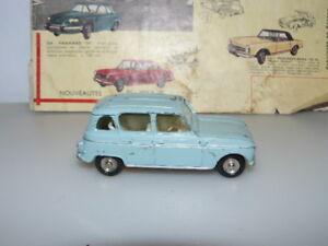 Dinky Toys Ancien Voiture Renault 4 L Référence 518 Bleu Pale