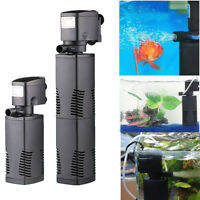 Series Aquarium Fish Tank Internal Filter 3-in-1 Multi-Function Submersible Pump