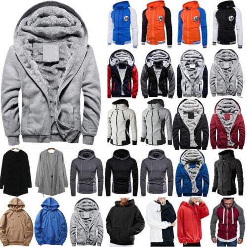 Plus Size Men Winter Hoodie Slim Hooded Sweatshirt Sport Pullover Jacket Outwear