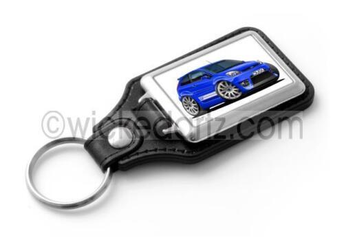 in Blue Stylish Key Ring WickedKarz Cartoon Car Ford Fiesta MK6 ST facelift