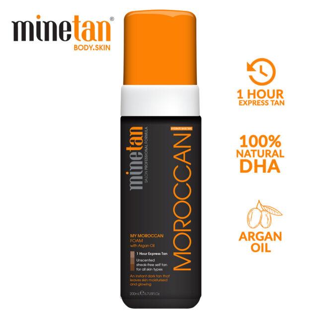 MineTan 1 Hour Express Self Tan My Moroccan Foam Argan Oil Bronze Glow - 200mL