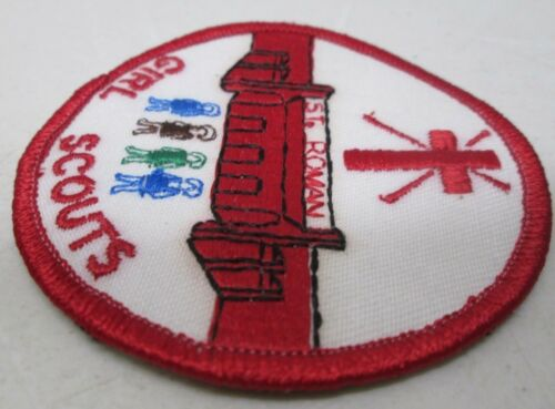 Girl Scout Embroidered Patch New St Roman Girl Scouts Church Cross