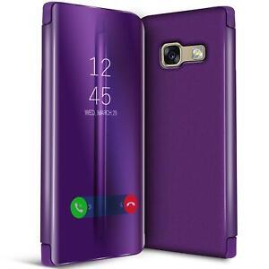 Handy-Klapp-Tasche-fuer-Samsung-Galaxy-A5-2017-Huelle-View-Flip-Case-Schutz-Cover