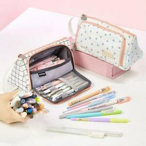 Large-Capacity-Pencil-Case-School-Pen-Zip-Stationery-girls-Cosmetic-Pouch-Bag