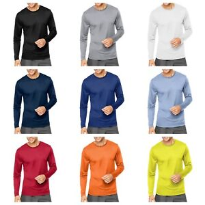 Hanes-Cool-DRI-Performance-Men-039-s-Long-Sleeve-T-Shirt-482L