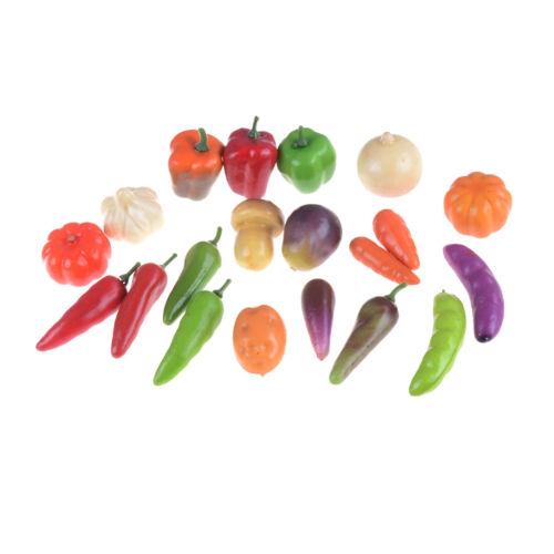 10pcs Many Kinds Of Vegetables Miniature Dollhouse Mini Decor Handmade SupplPVCA