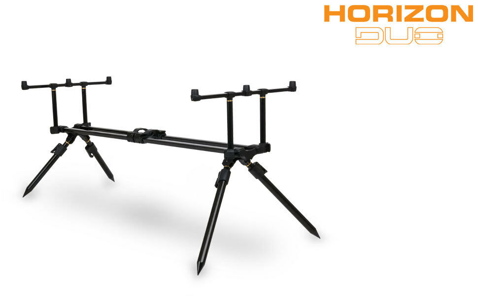 FOX Nuovo Duo Horizon 4 Dual Rod Pod Pesca della Carpa  Include custodia di trasporto  - CRP028