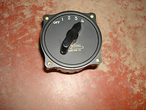 NOS LEWIS ENG. CO. 3756C2 FIVE POSITION AIRCRAFT SELECTOR SWITCH WARBIRD
