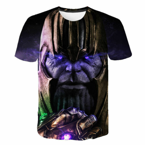Marvel Avengers Thanos 3D printed t shirts Short Sleeved shirt tops summer tee