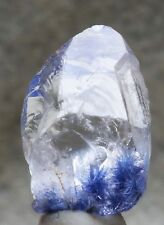 13.5 ct Dumortierite Acicular Inclusion in Clear Quartz Crystal Point  Brazil