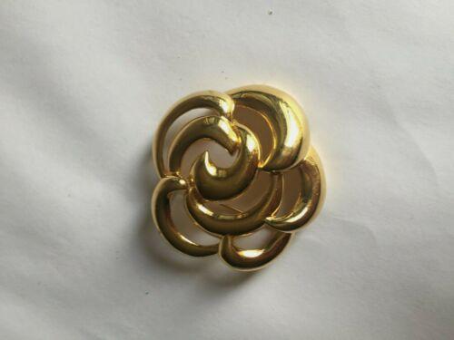 Authentic Vintage Gold Tone Napier Swirl Motif Bro